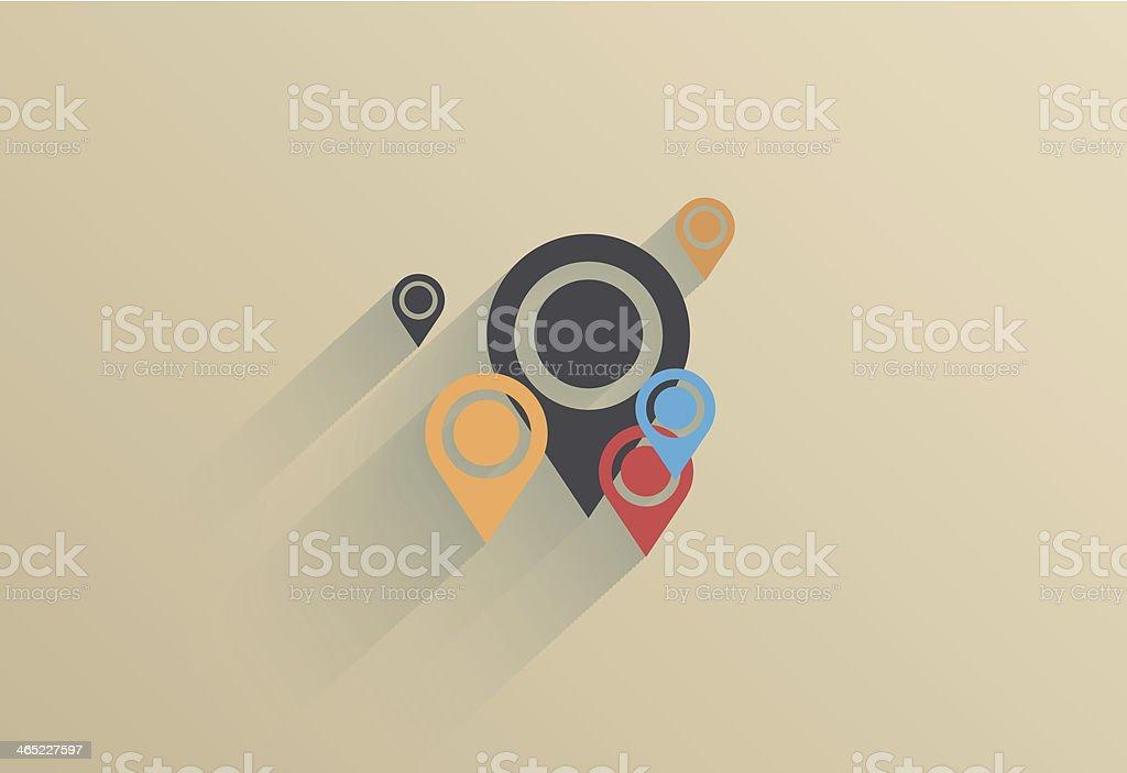 Vector creative flat ui icon background. Eps 10 vector art illustration