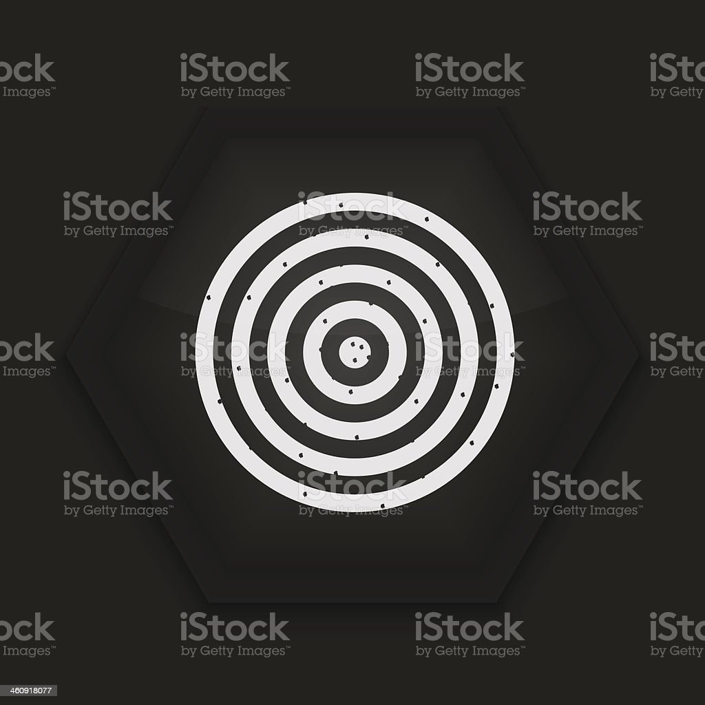 Vector creative icon on black background. Eps10 royalty-free stock vector art