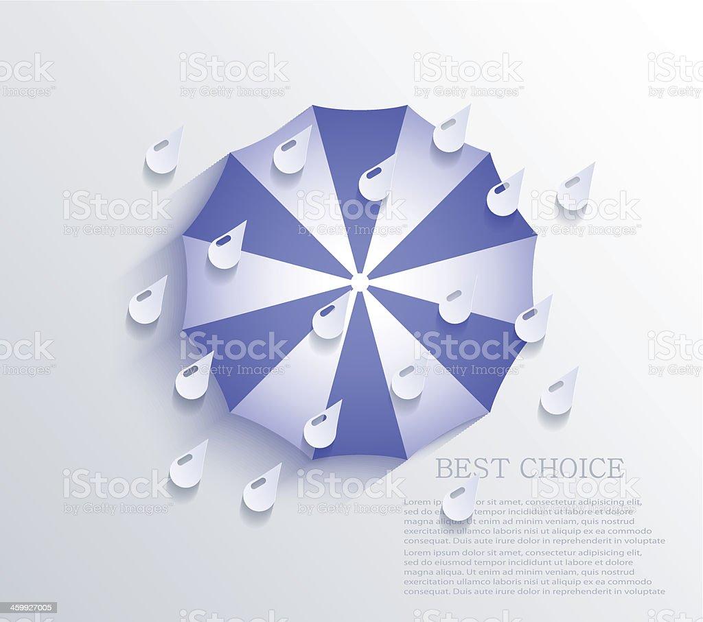 Vector creative umbrella background. Eps10 royalty-free stock vector art