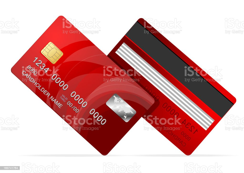 Vector Credit Card red royalty-free stock vector art