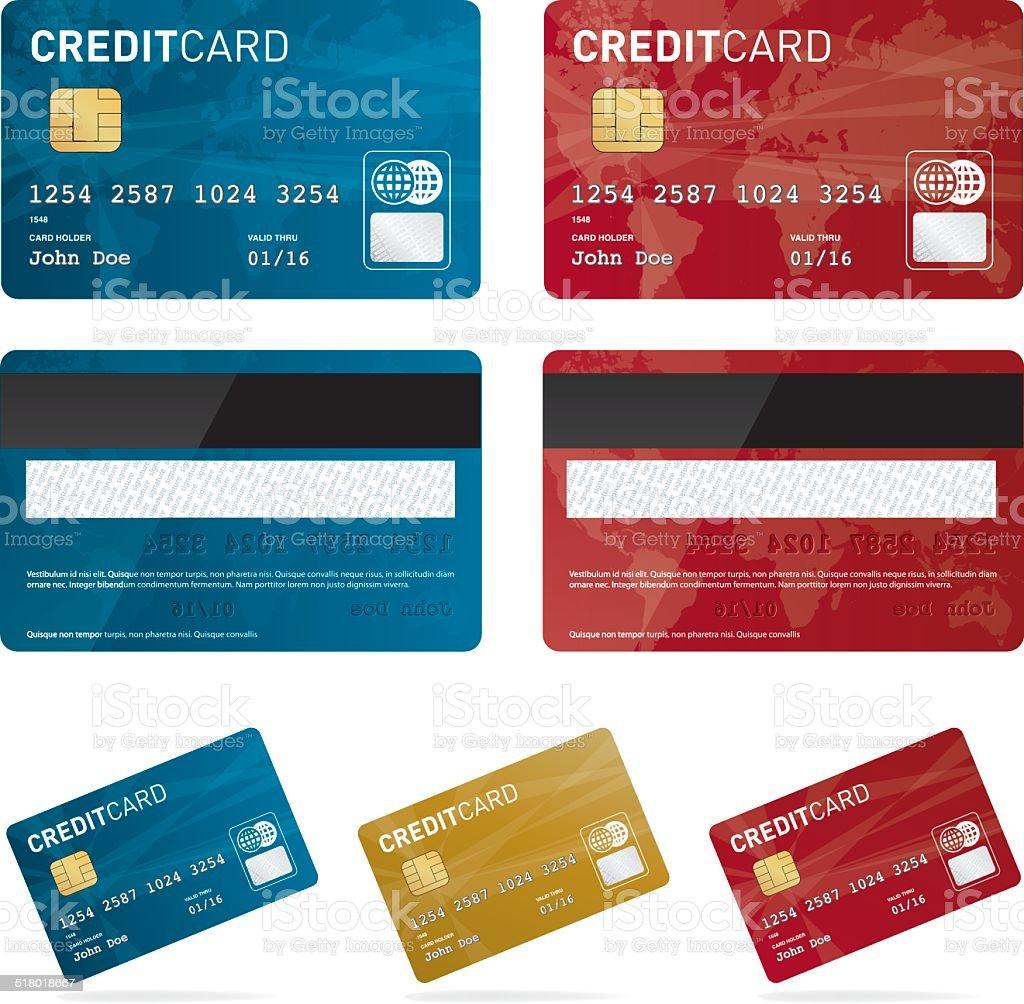 Vector credit card set vector art illustration