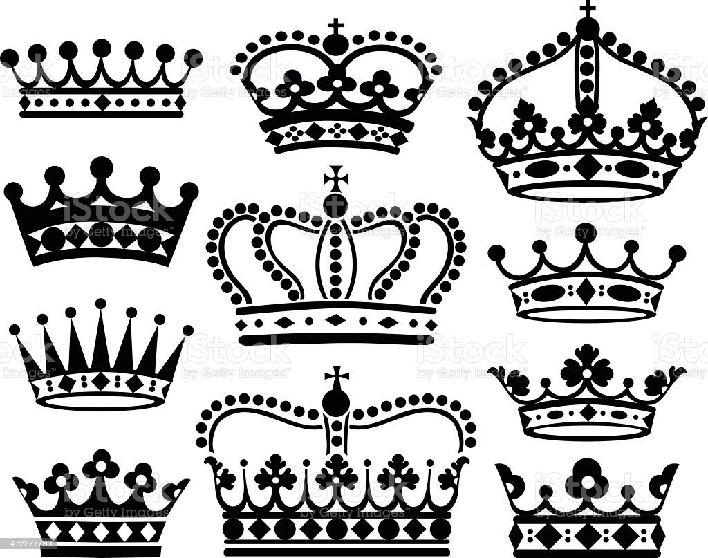 Vector Crowns royalty-free stock vector art