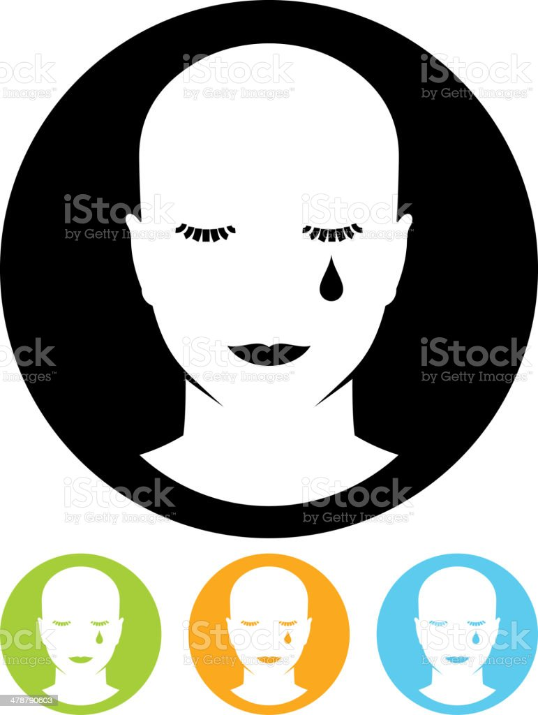 Vector crying face illustration vector art illustration