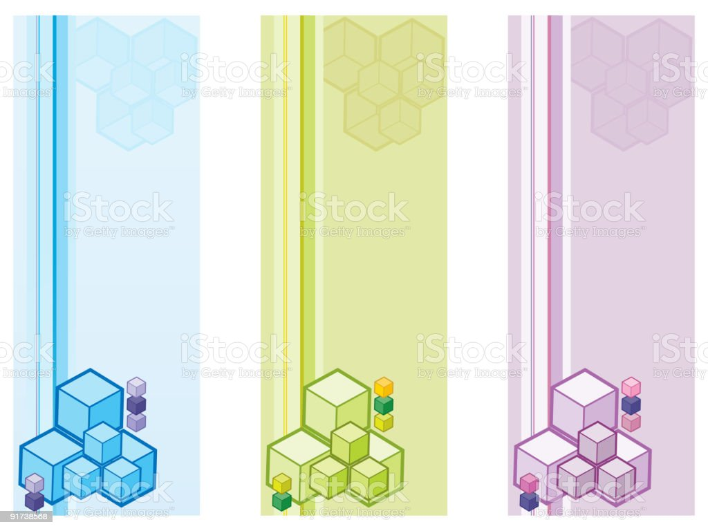 vector cubes royalty-free stock vector art