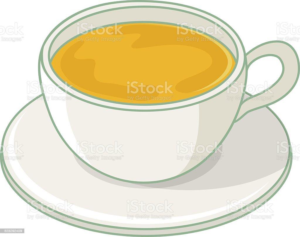 vector cup of tea illustration vector art illustration