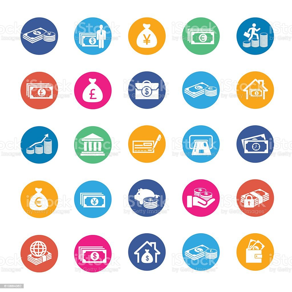 Vector Currency icons vector art illustration
