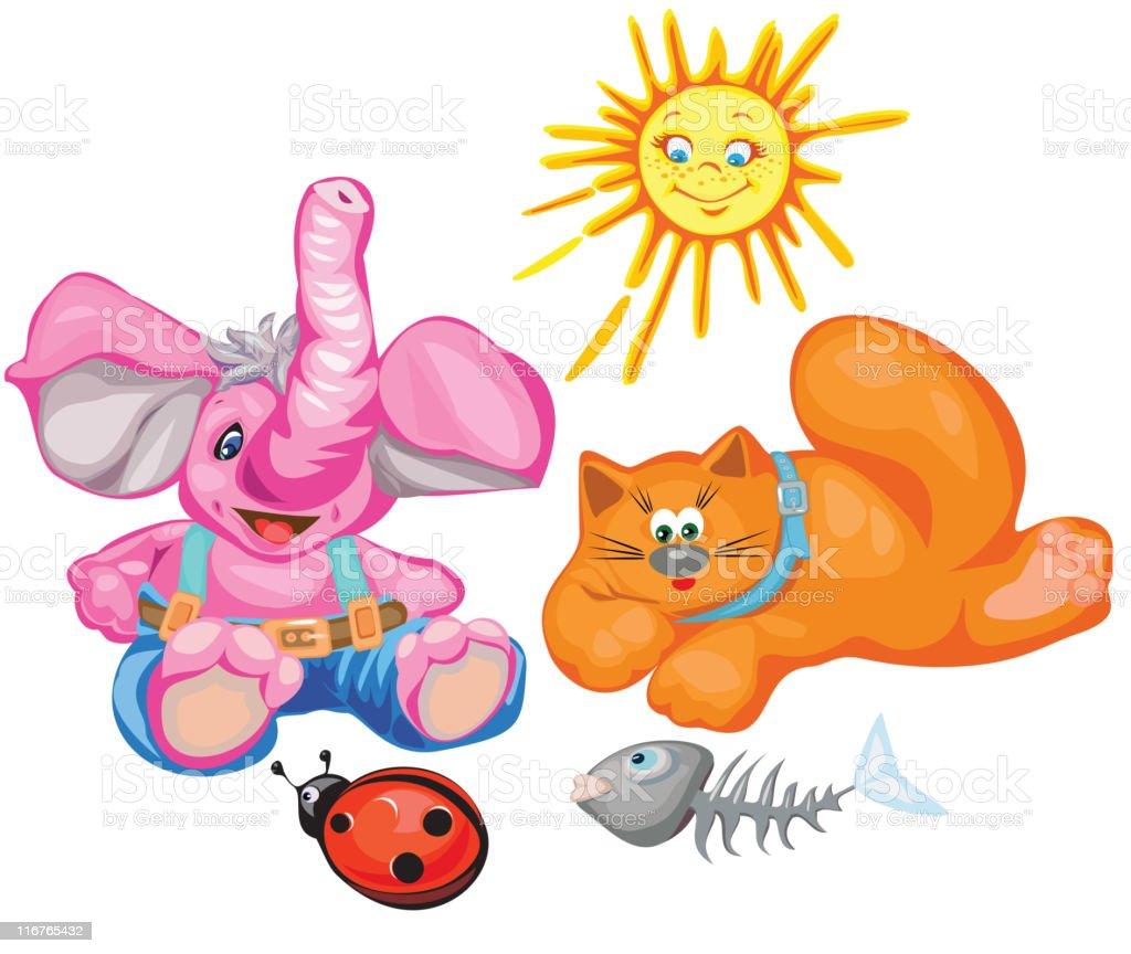 Vector cute animals cartoons. royalty-free stock vector art