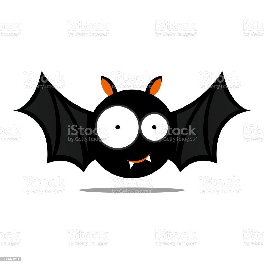 Vector Cute Halloween Bat vector art illustration