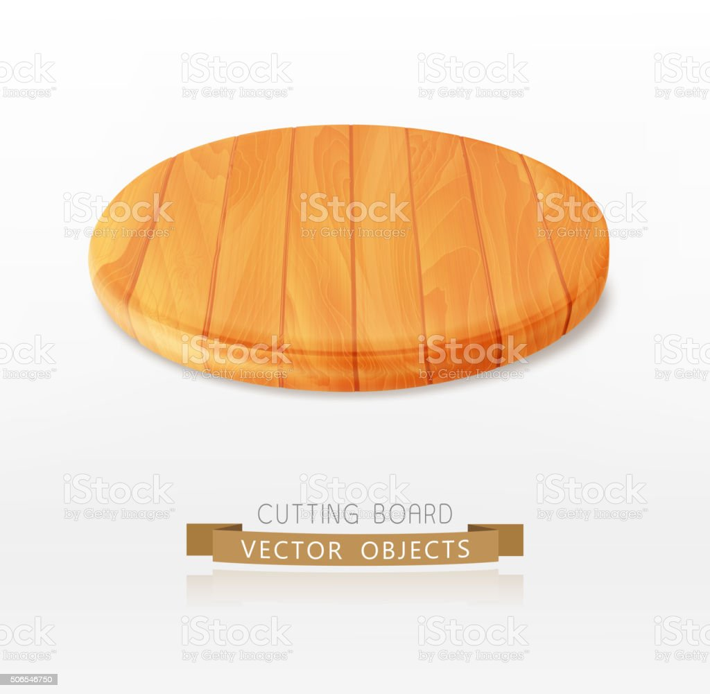vector cutting board isolated on a white background vector art illustration