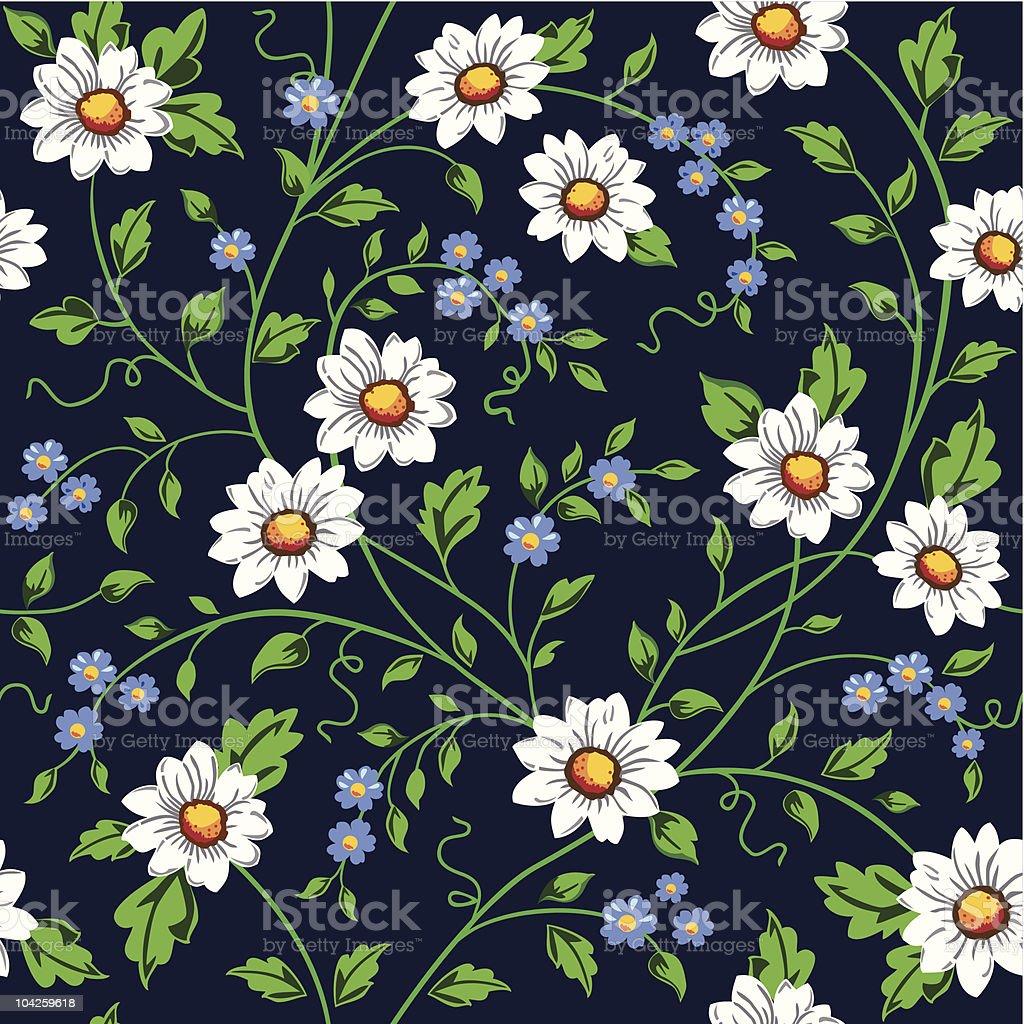 Vector daisy seamless background royalty-free stock vector art