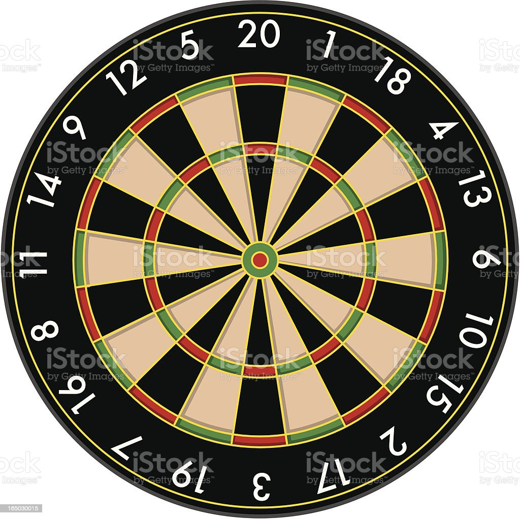 Vector Dartboard vector art illustration