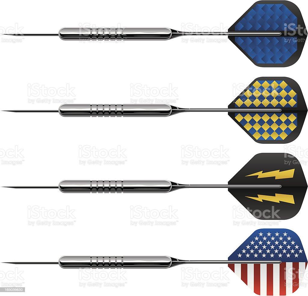Vector Darts vector art illustration