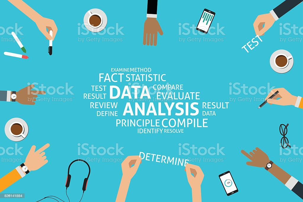 vector data analysis concept,template vector art illustration
