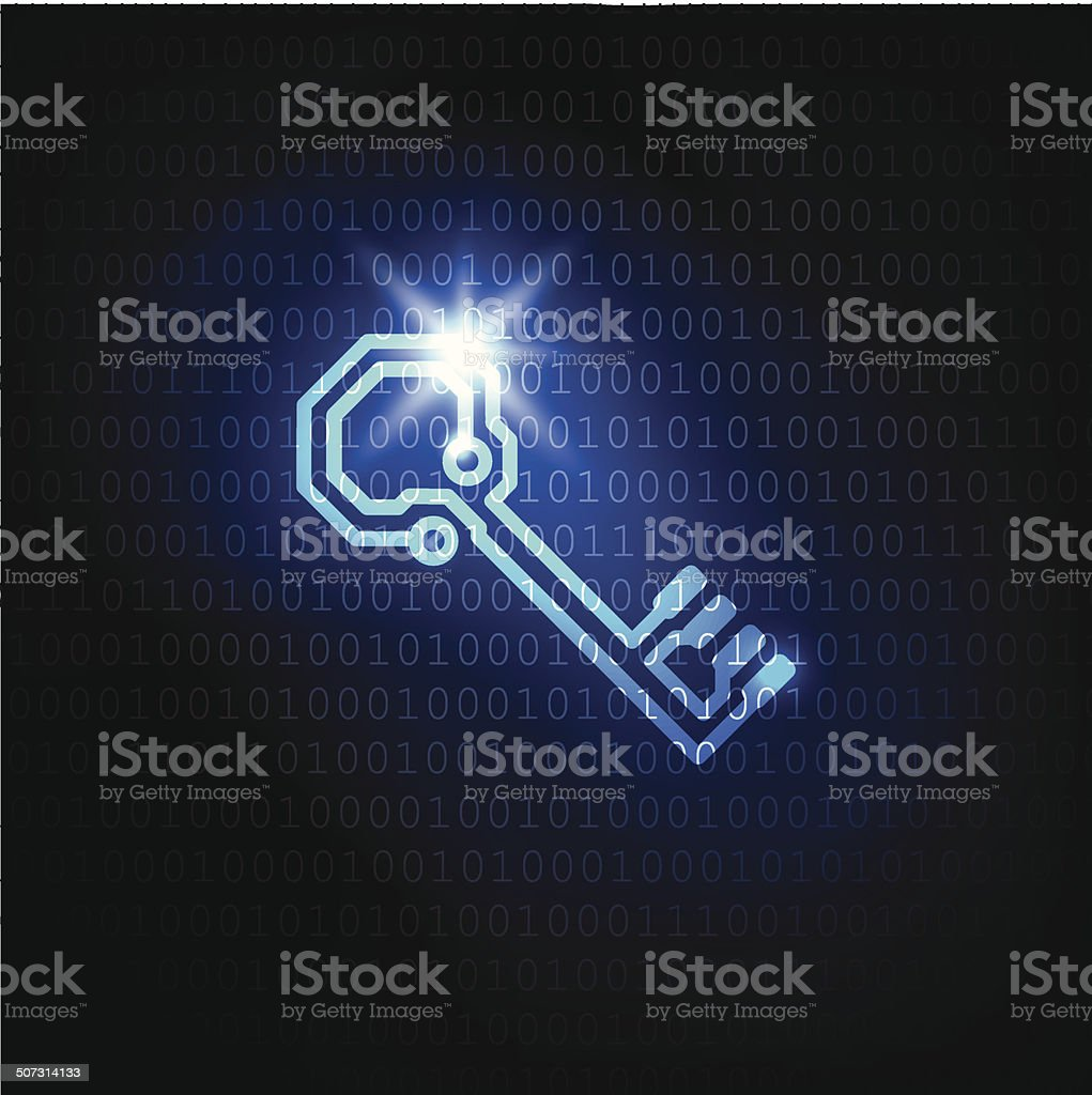 Vector data security background vector art illustration