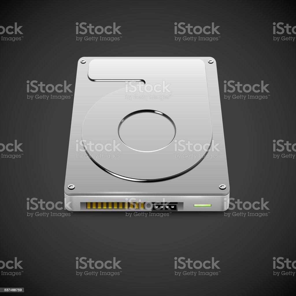 Vector Data Storage Hard Disc Drive Icon vector art illustration