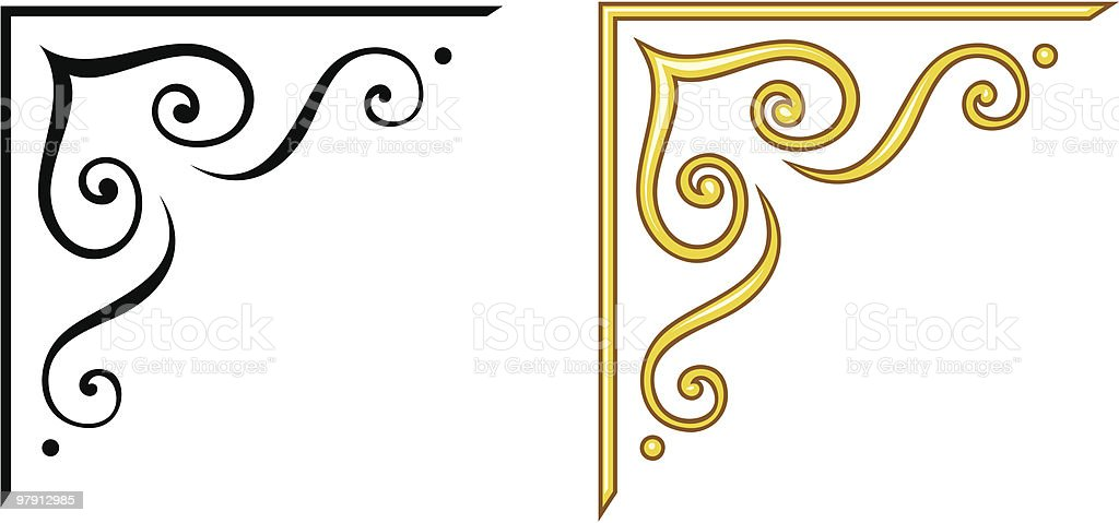 Vector decorative design elements royalty-free stock vector art