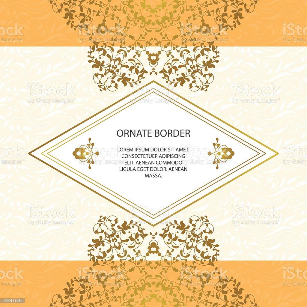 Vector cadre décoratif. Éléments de modèle de conception élégante. stock vecteur libres de droits libre de droits