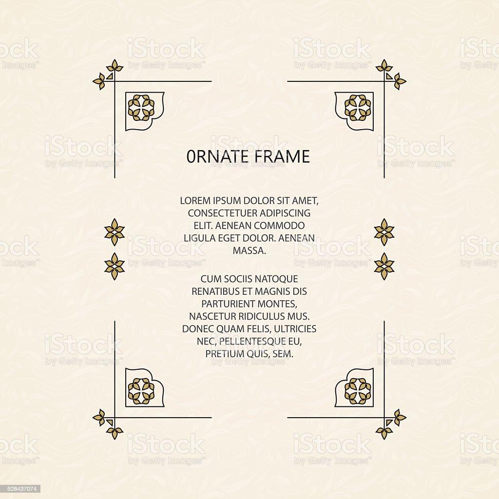 Vector cadre décoratif. stock vecteur libres de droits libre de droits