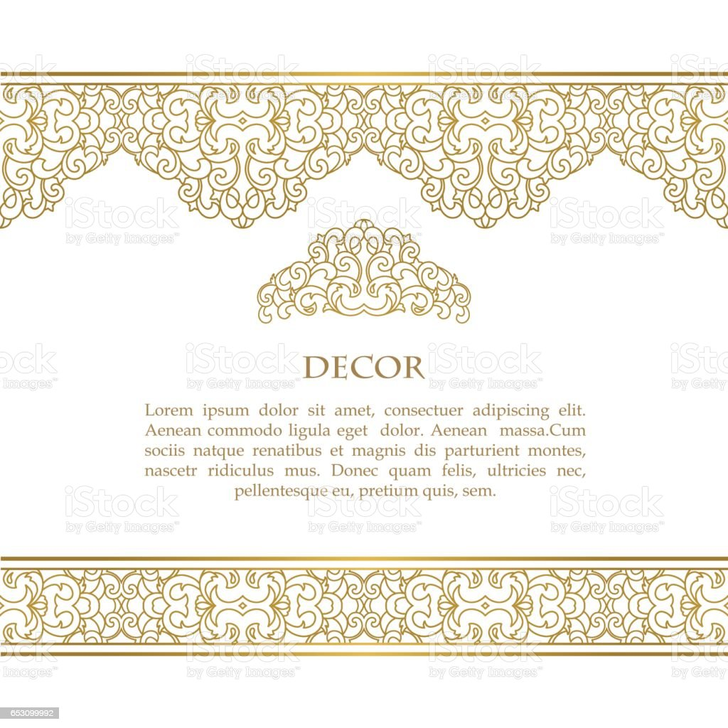 Vector decorative frame. vector art illustration