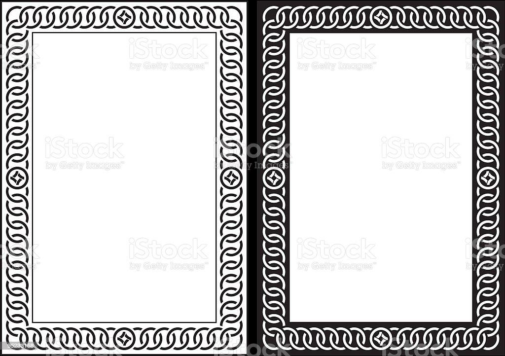 Vector decorative frame vector art illustration