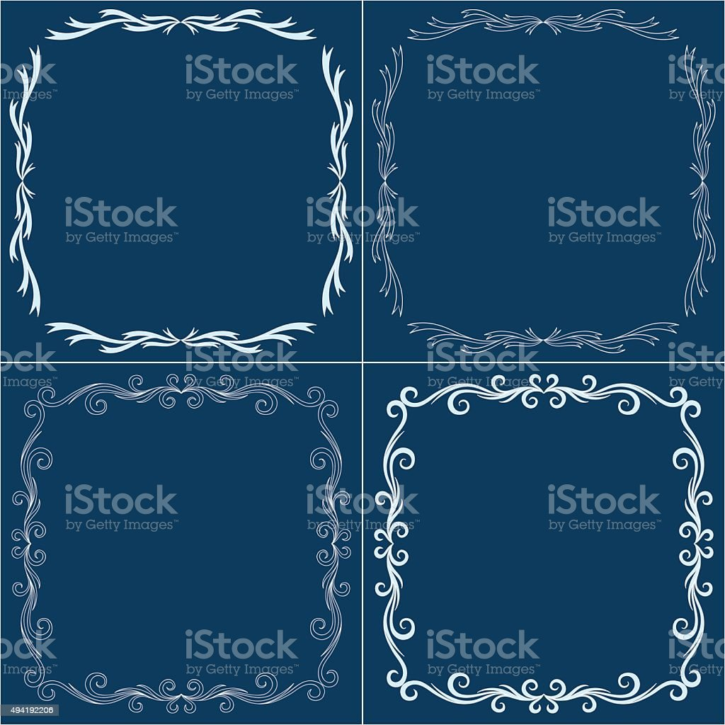 Vector decorative frames vector art illustration
