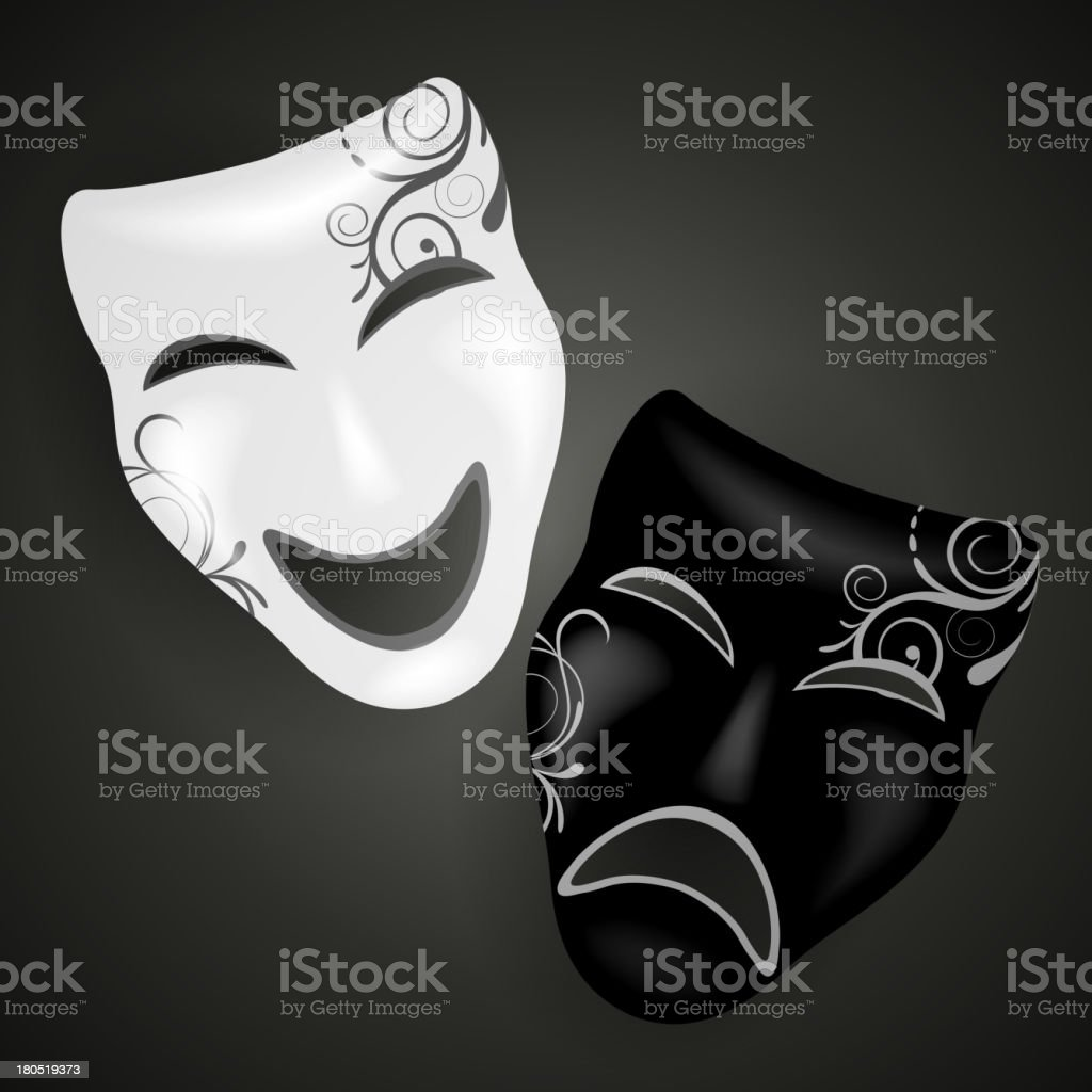 Vector Decorative Masks royalty-free stock vector art