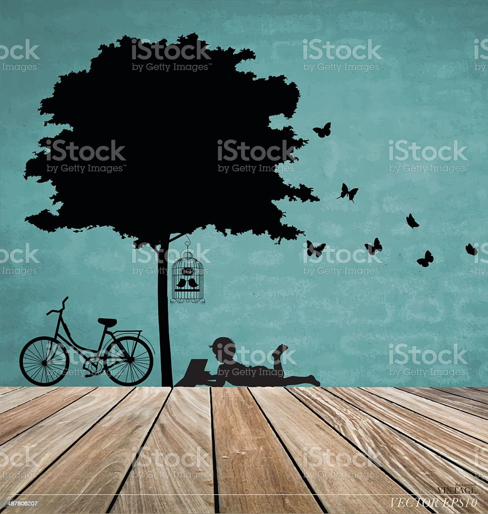 Vector Decorative Wall Stickers For Your House's Interiors. (eas vector art illustration