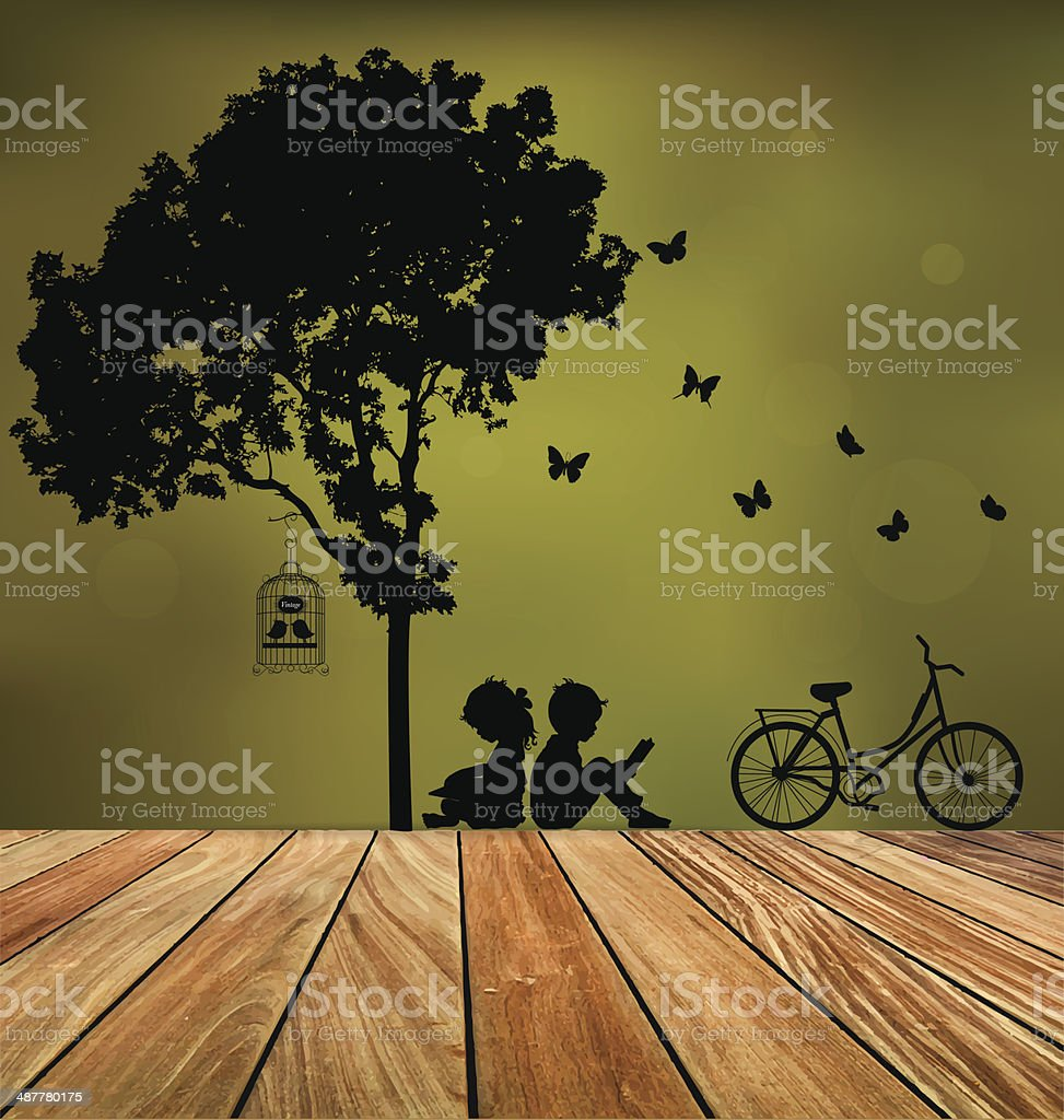 Vector Decorative Wall Stickers For Your House's Interiors. vector art illustration