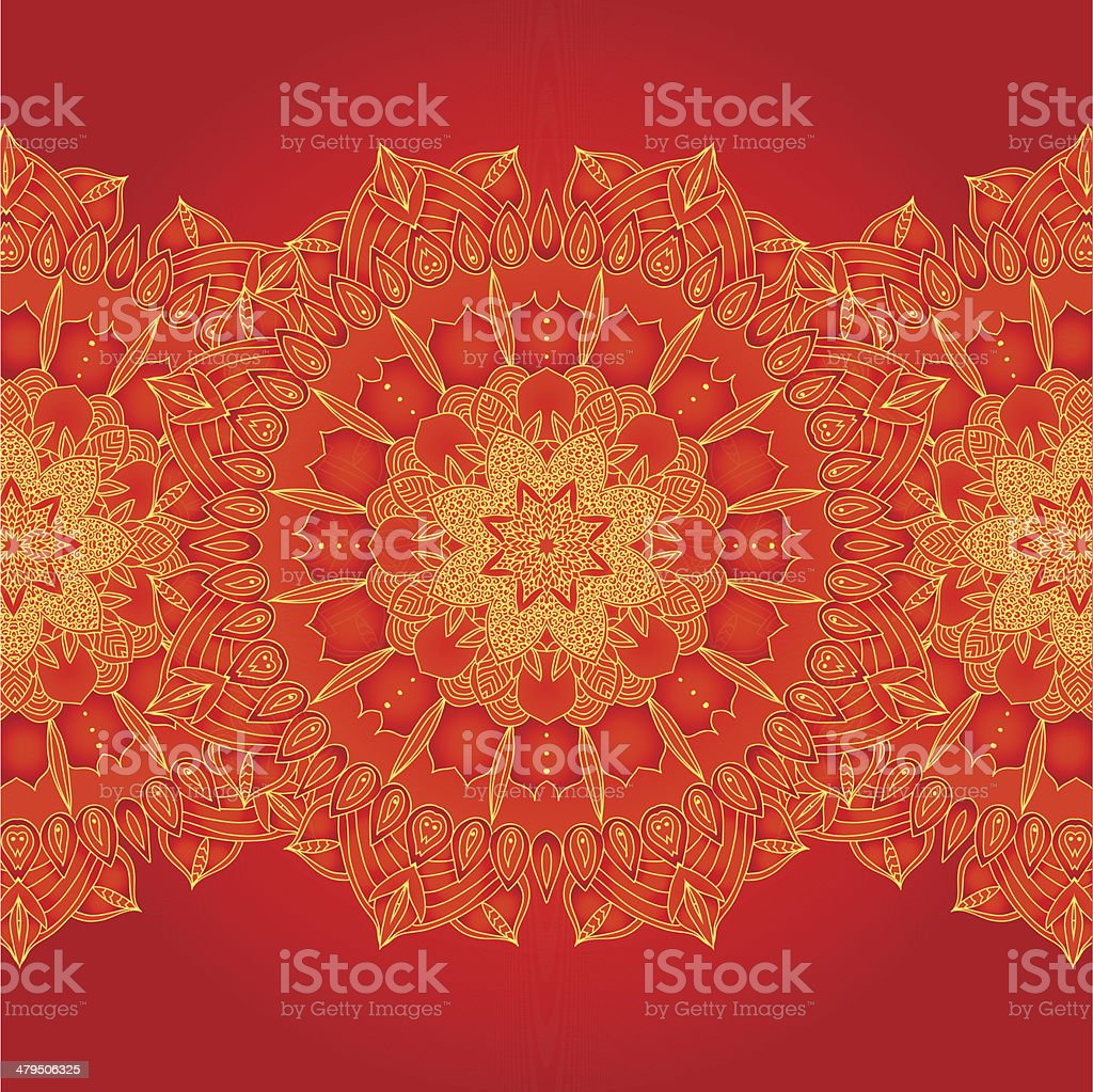 vector delicate lace round pattern royalty-free stock vector art