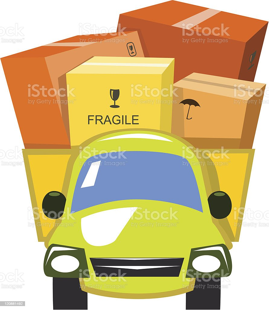 Vector delivery truck royalty-free stock vector art