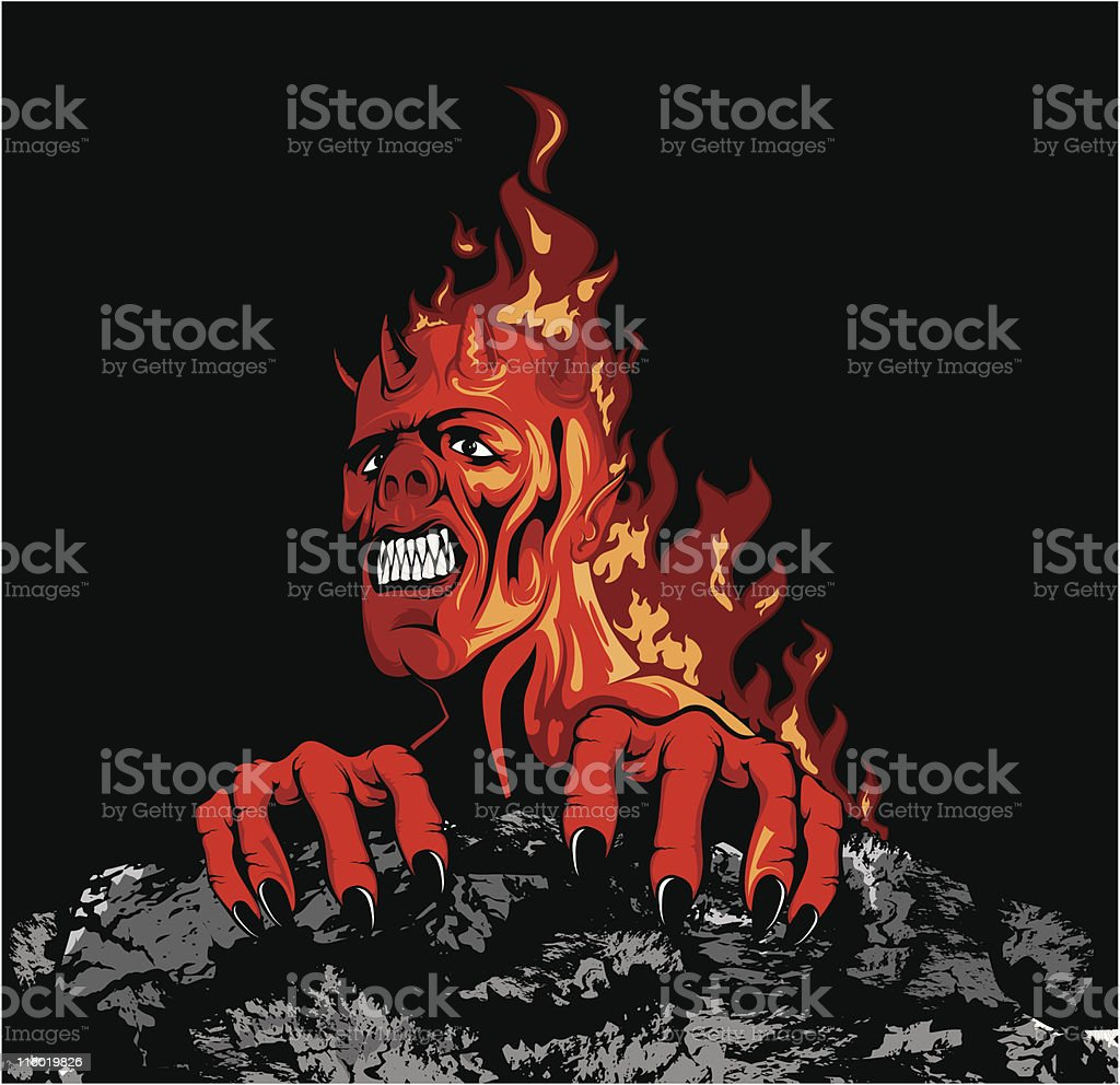 vector demon royalty-free stock vector art