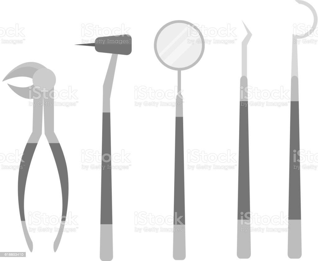 Vector dental equipment vector art illustration