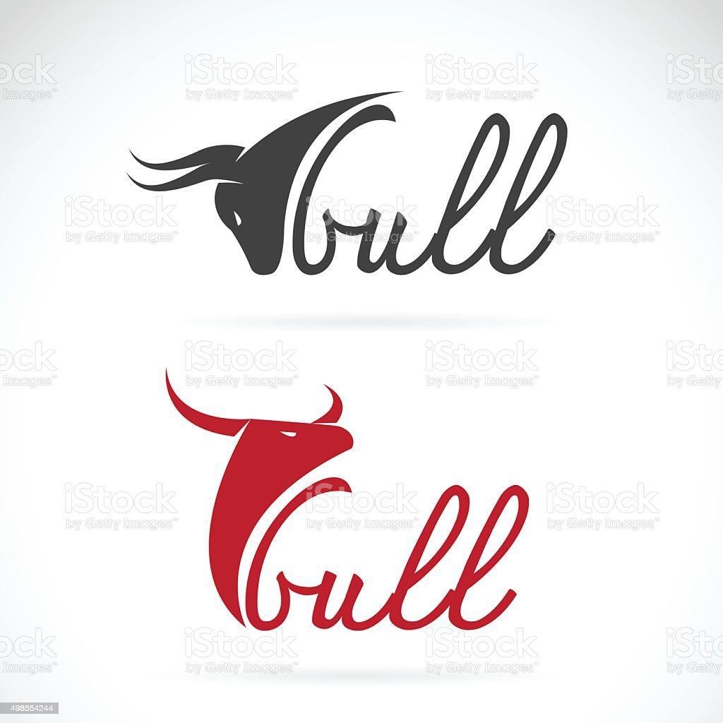 Vector design bull is text vector art illustration
