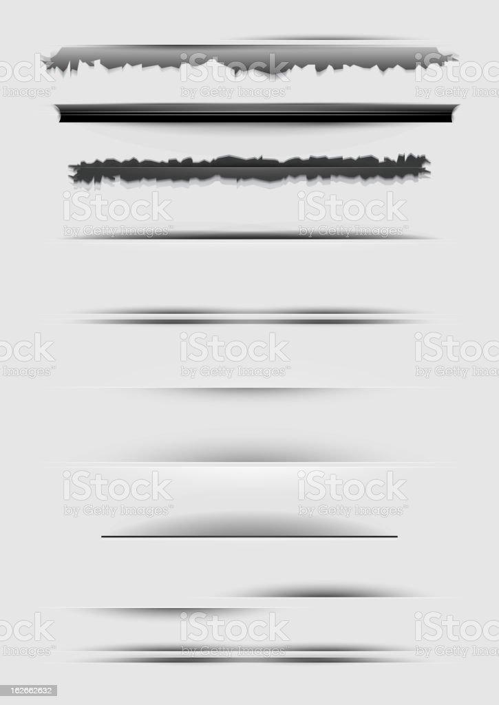 Vector design dividers on white vector art illustration