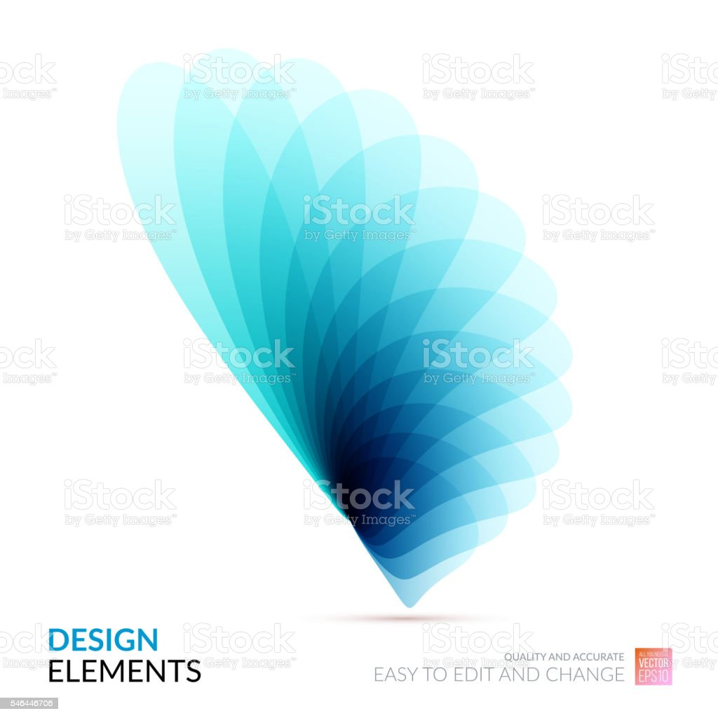 Vector Design Elements for graphic layout. Modern Abstract backg vector art illustration