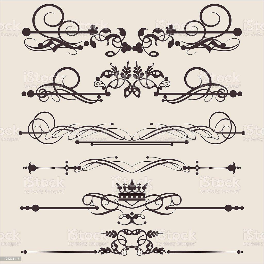 Vector Design Elements - set 1 royalty-free stock vector art