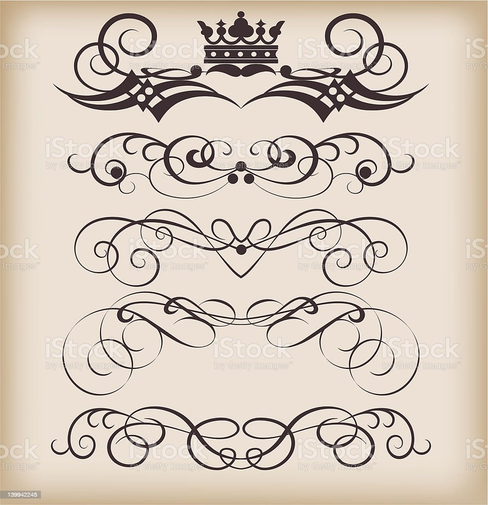 Vector Design Elements - set 22 royalty-free stock vector art