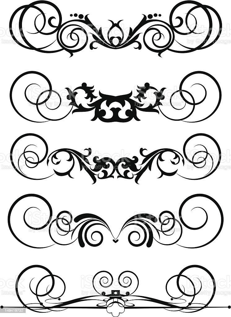 Vector Design Elements - set 26 royalty-free stock vector art