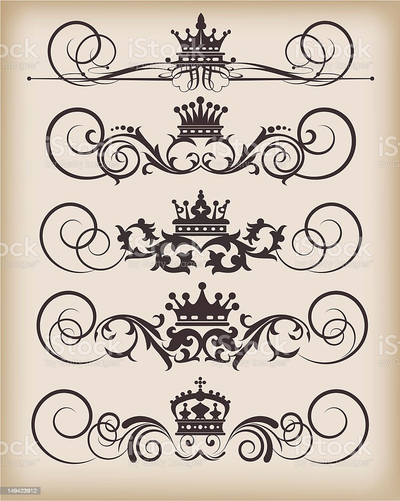 Vector Design Elements - set 27 royalty-free stock vector art