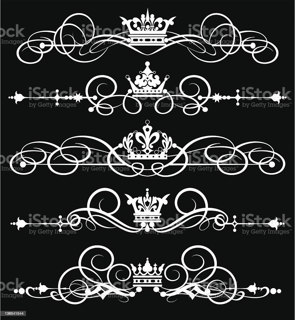 Vector Design Elements - set 3 royalty-free stock vector art