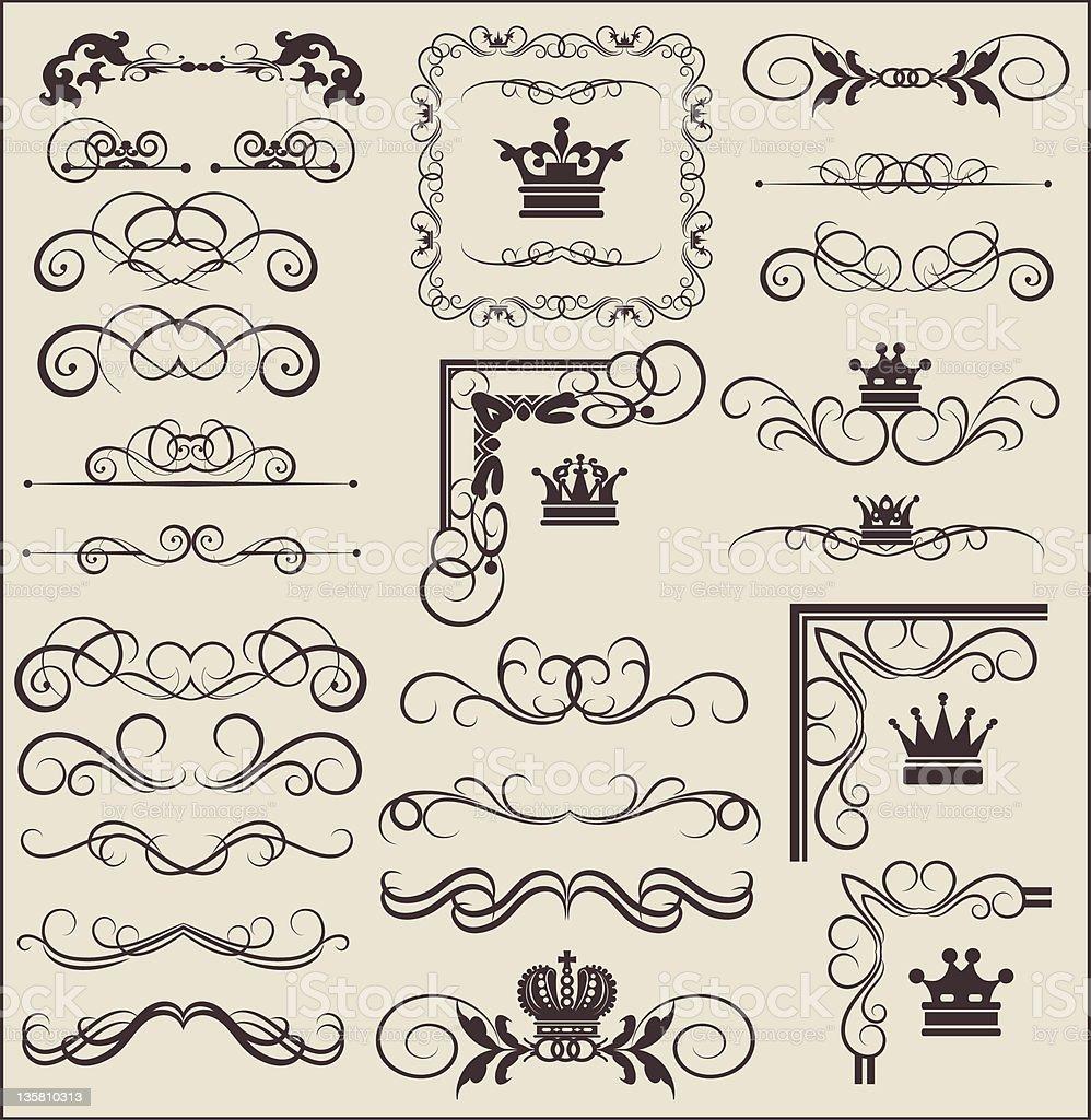 Vector Design Elements - set 6 royalty-free stock vector art