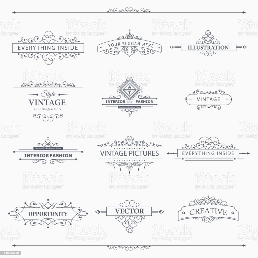 Vector design elements vector art illustration