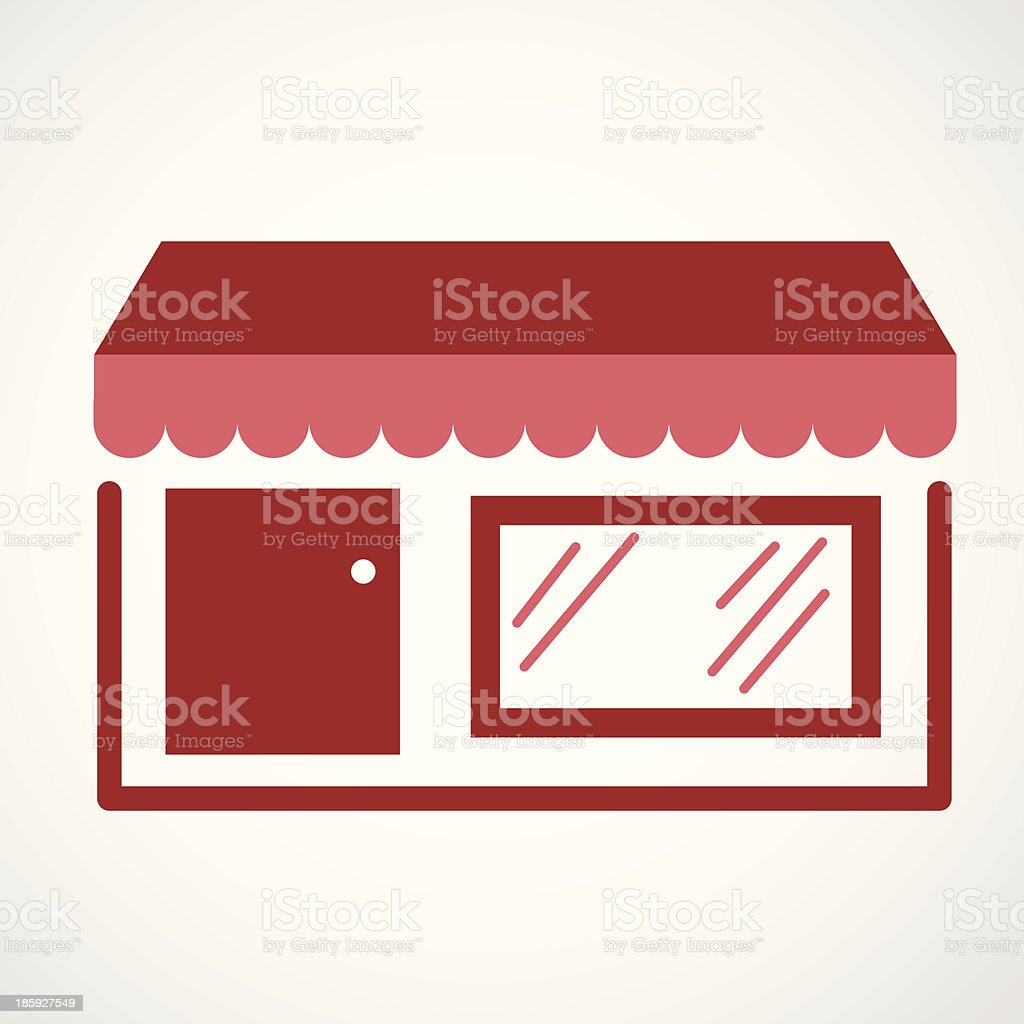 A vector design of a storefront royalty-free stock vector art