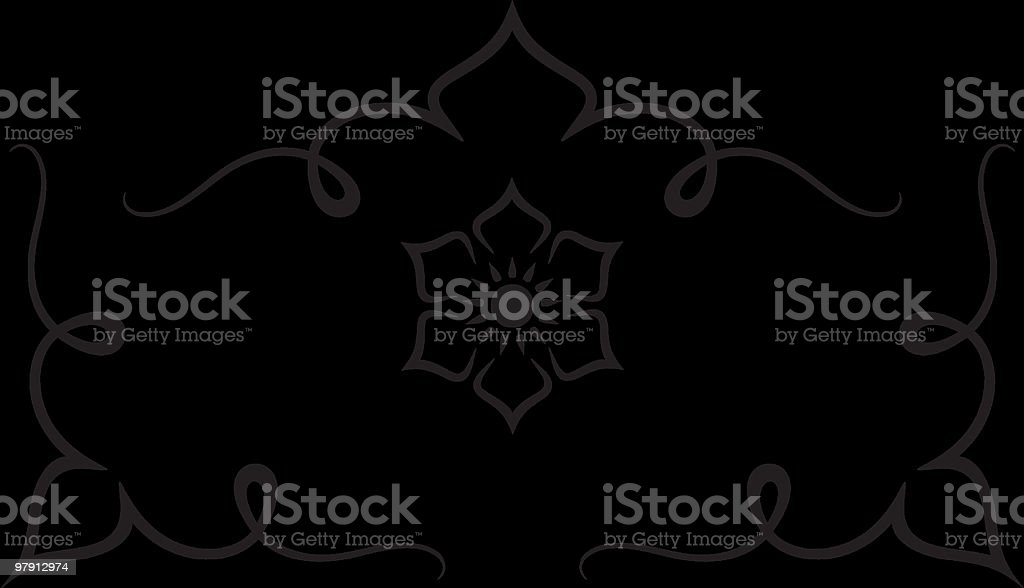 Vector design of stylized flower on a black background royalty-free stock vector art