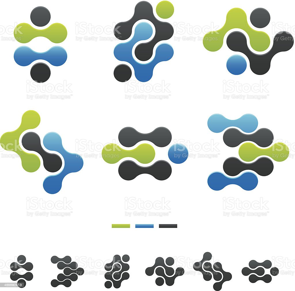 Vector designs of abstract shapes vector art illustration