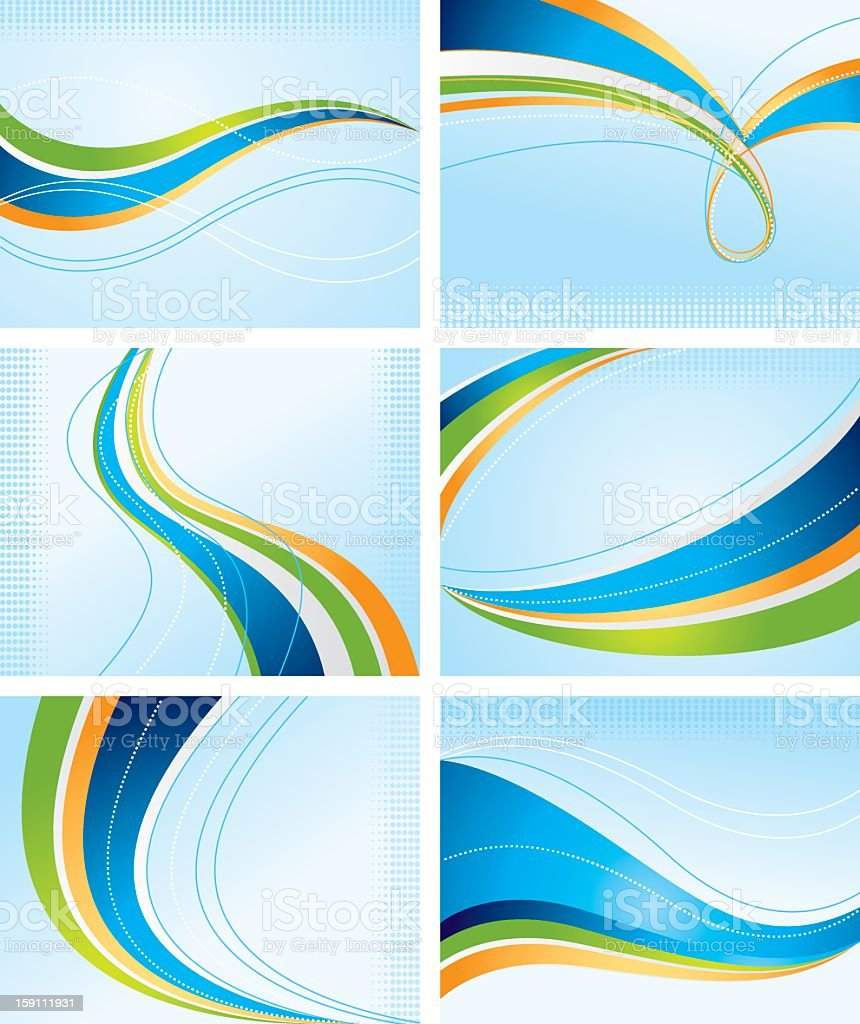 Vector designs of colorful waves royalty-free stock vector art