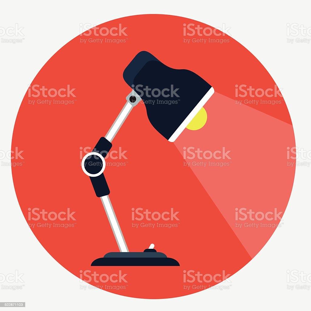 Vector desk lamp icon vector art illustration
