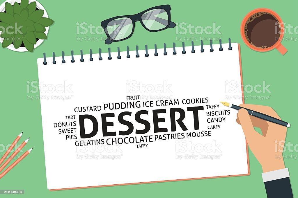 vector dessert concept,template vector art illustration