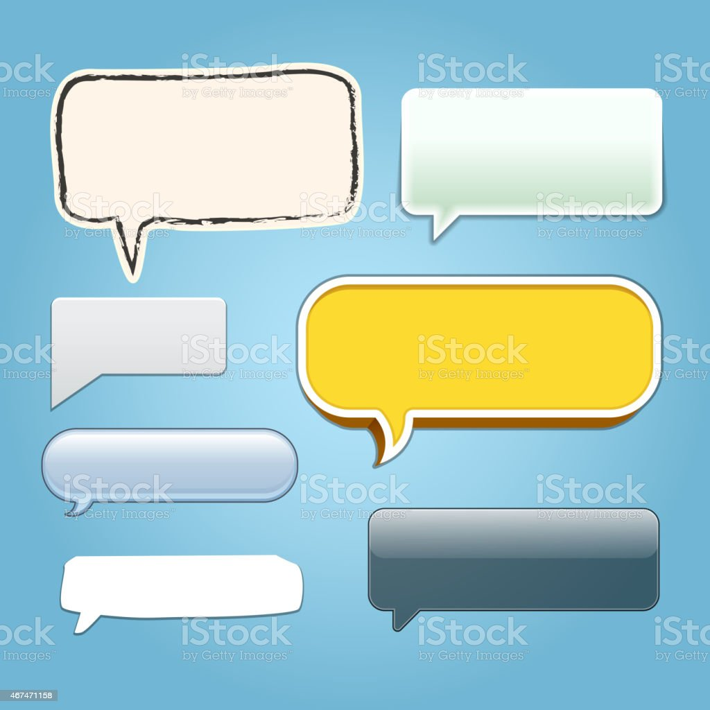 Vector Dialogue Bubbles vector art illustration