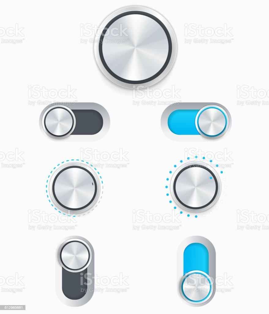 Vector Dials vector art illustration